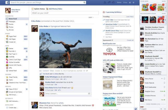 facebook newsfeed february 2013