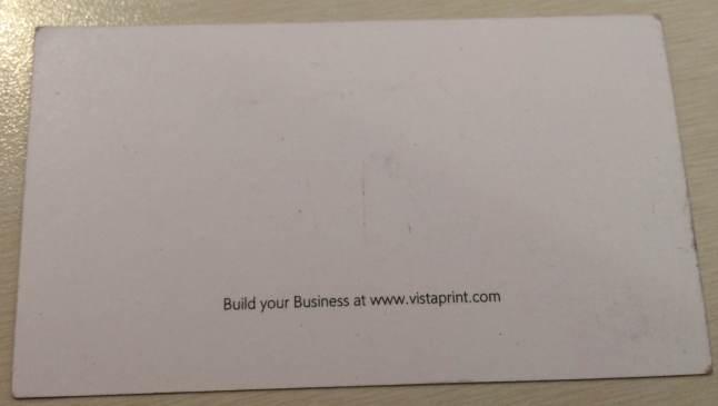 vistaprint blank business card
